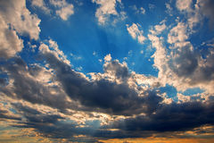 Evening cloudscape Stock Photos