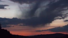 Evening Cloudscape time lapse. stock video footage
