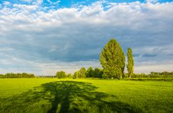 Evening cloudy skies in spring Royalty Free Stock Image