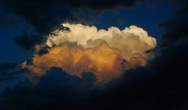 Evening clouds Royalty Free Stock Image