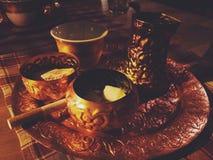 An evening coffee stock photo