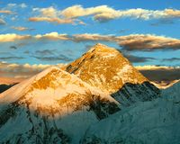 Evening colored view of Everest Royalty Free Stock Photography