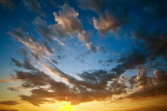 Evening colorful sky Royalty Free Stock Photo
