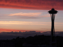 Evening Colors. Skyline Stock Photo