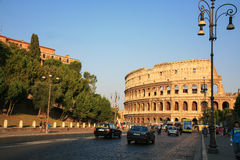 Evening Colosseum Rome Italy Stock Photos