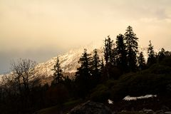 Evening colours in the Himalayas, India royalty free stock photos