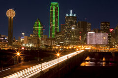 Evening Commute in downtown Dallas, Texas Stock Photo