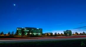 Evening commute traffic near steele creek charlotte north caroli. Na Royalty Free Stock Images