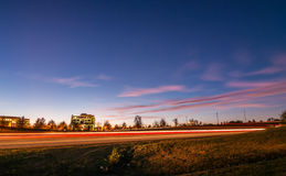 Evening commute traffic near steele creek charlotte north caroli Royalty Free Stock Images