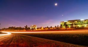 Evening commute traffic near steele creek charlotte north caroli. Na Royalty Free Stock Photography