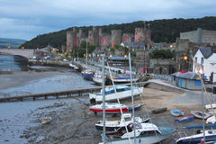 An Evening at Conwy Castle in Wales Stock Photos