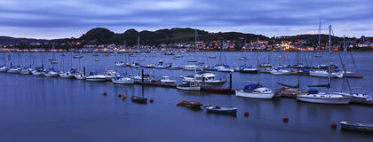 An Evening Conwy Marina and Deganwy Shot Stock Photos