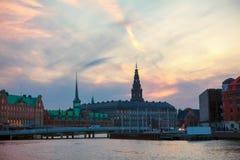 Evening in Copenhagen stock image