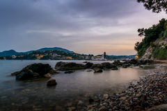 Evening at Corfu monastery Stock Images