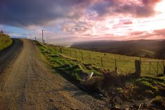 Evening Country View Stock Images