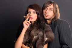 Evening couple posing Royalty Free Stock Photo