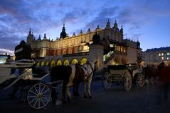 Evening in cracow Stock Photography