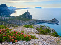 Evening Crimea coastline Royalty Free Stock Photos