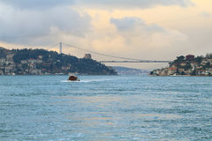 Evening cruise in the Bosphorus Strait Stock Photos