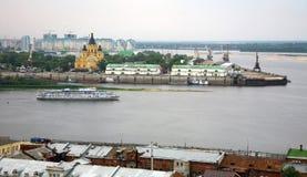 Evening cruise on the river in Nizhny Novgorod Stock Image