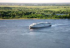Evening cruise on the river Volga Royalty Free Stock Photo