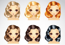 Evening Curls Hairstyling Set Stock Photo