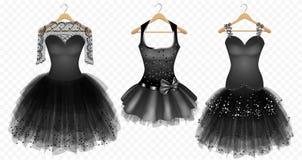 Evening czerni suknie Royalty Ilustracja