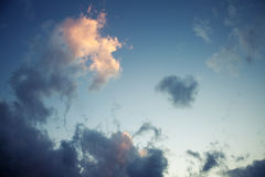 Evening dark cloudy sky, background texture Royalty Free Stock Photography