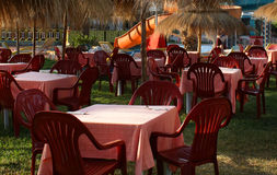 Evening dinner on hotel Royalty Free Stock Images