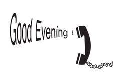 evening dobrego wektor ilustracji