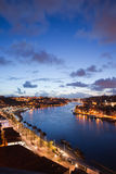 Evening at Douro River in Portugal Royalty Free Stock Images