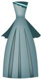 Evening dress. Beautiful long turquoise evening dress, vector illustration royalty free illustration