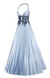 Evening dress with pleated skirt Royalty Free Stock Photo