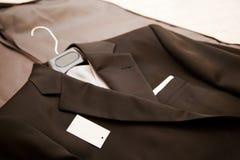 Evening dresser. Black evening dress of a man stock photo
