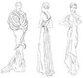 Evening dresses Stock Images