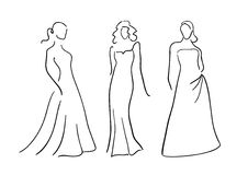 Evening dresses Royalty Free Stock Photography