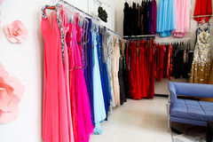 Evening dresses Royalty Free Stock Images
