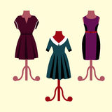 Evening Dresses on a mannequin Stock Photo