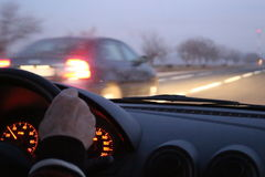 Evening driving Stock Photography