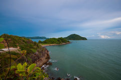Evening by East sea in thailand Stock Images