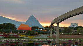 Evening at Epcot Center in Florida Stock Image