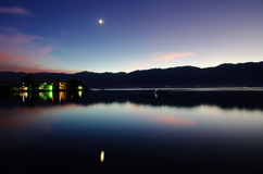 Evening at Erhai lake Royalty Free Stock Photography