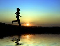 Evening exercise Royalty Free Stock Photography