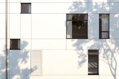 Evening facade of a modern building Stock Photography
