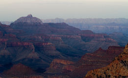 Evening falls on Grand Canyon Royalty Free Stock Photos