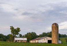 Evening Farmland. An old farm sitting in the evening sun in rural Corbin, Kentucky Royalty Free Stock Photography