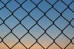 Evening fence background Royalty Free Stock Photo