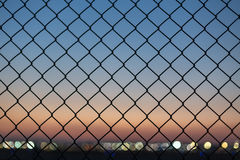Evening fence background Royalty Free Stock Photography