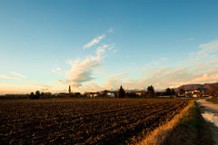 Evening in the fields of Friuli Stock Photos