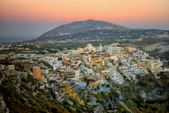Evening in Fira Stock Photo